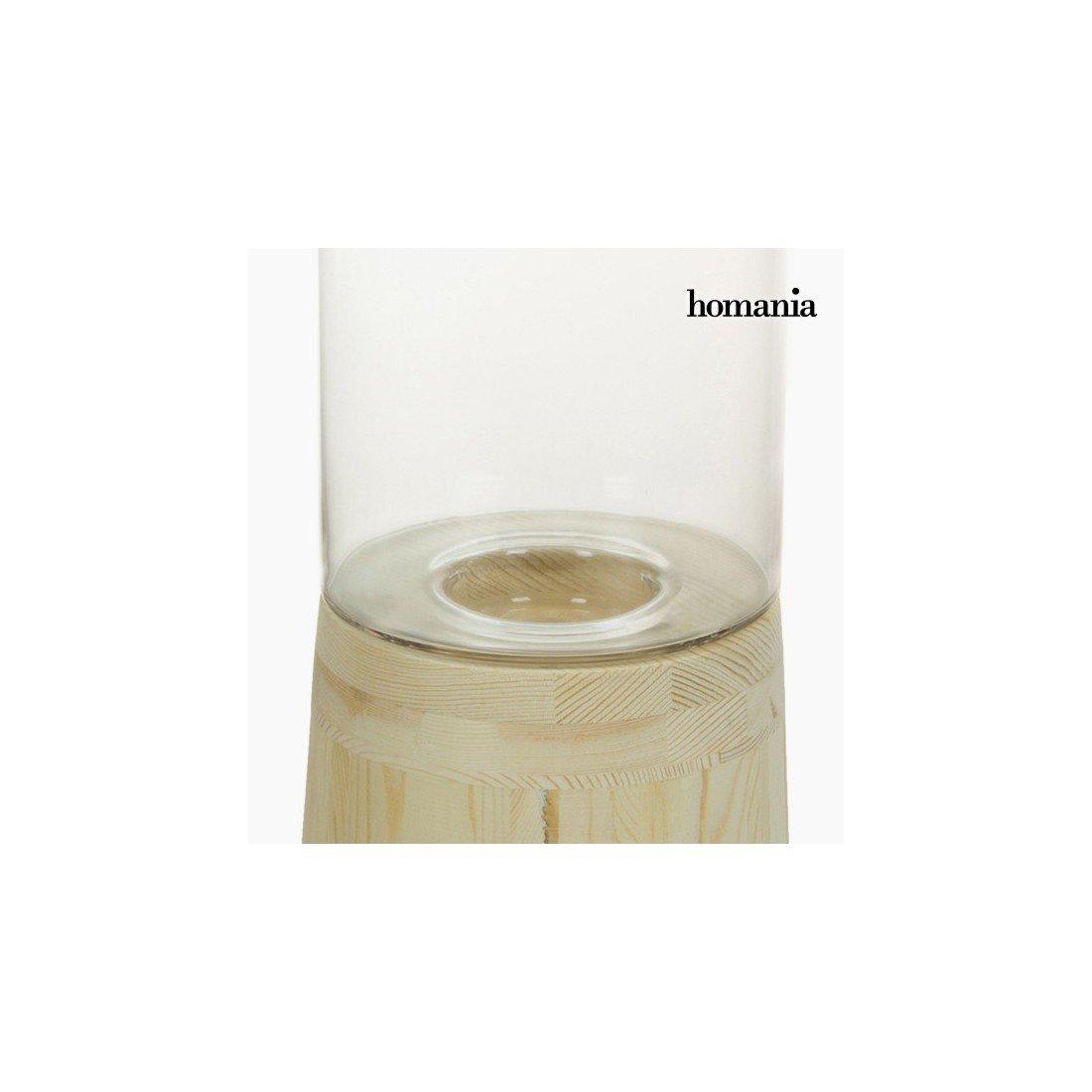0c1892bb56f Portavelas Vidrio Madera - Colección Pure Crystal Deco by Homania   Amazon.es  Hogar
