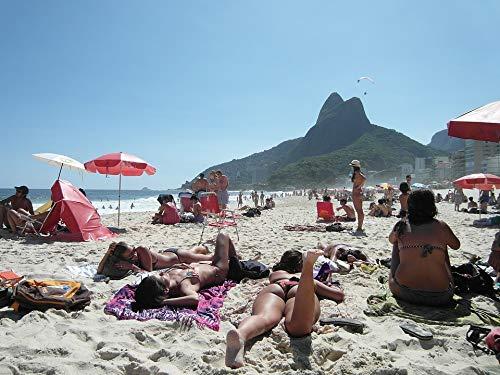 (Home Comforts Peel-n-Stick Poster of Copacabana Rio De Janeiro Sand Girl Beach Bikini Vivid Imagery Poster 24 x 16 Adhesive Sticker Poster Print)