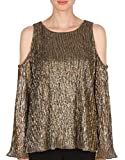 Joseph Ribkoff Shiny Pleated Knit Bronze Tunic Style 174833 Size 14