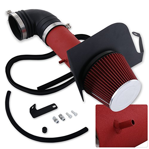 For Cadillac Cts-V V8 5.7L 6.0L High Flow Induction Air Intake System + Heat Shield Red Wrinkle Piping Kit