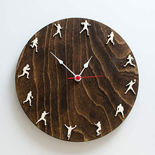 American football wood clock 10