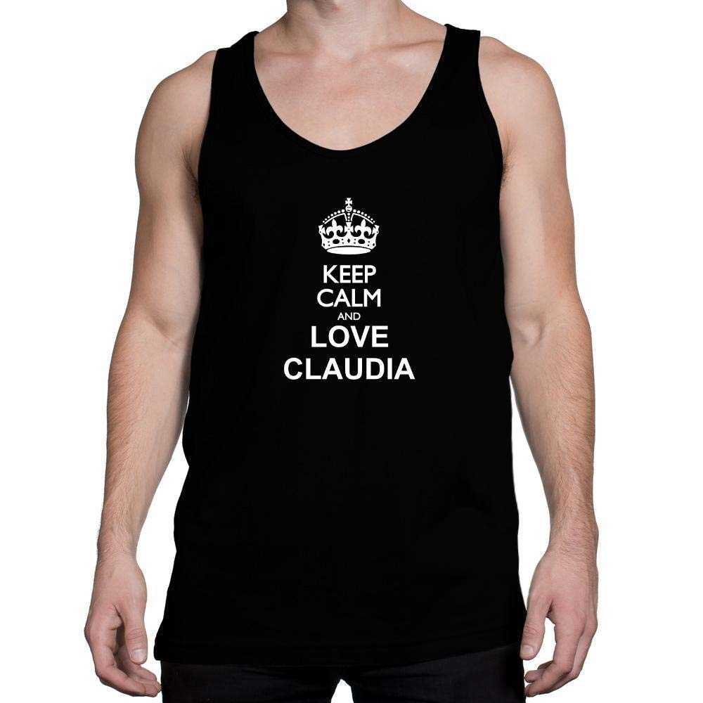 Idakoos Keep Calm and Love Claudia Tank Top