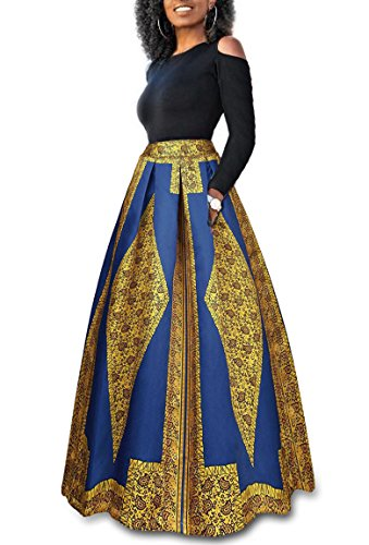 long african print dresses - 1