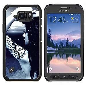 TECHCASE---Cubierta de la caja de protección para la piel dura ** Samsung Galaxy S6 Active G890A ** --Impresionante Tattoo Girl