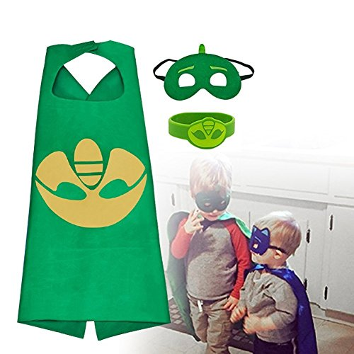 RioRand Kids Dress up Costumes Cartoon Capes Masks Boys Girls 3-Pack