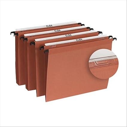 LOblique AZ - Caja de 25 archivadores para colgar en rieles de cajones (
