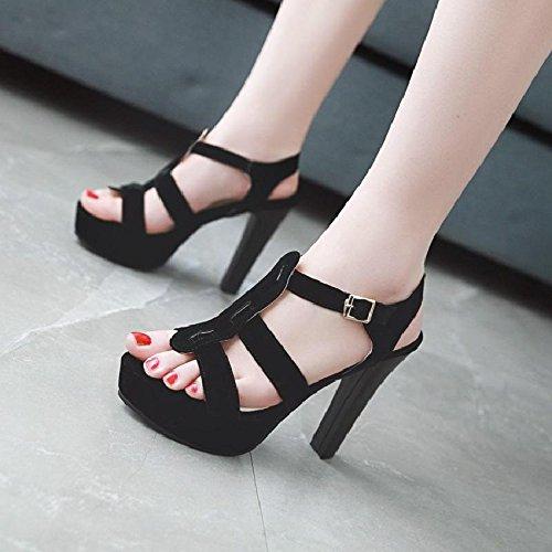 D sposa toe pelle scamosciata temperamento tacco moda sandali in alti alto Tacchi open da estiva YMFIE qpw6ZH