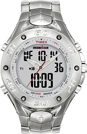 Timex T56371 - Reloj (Reloj de Pulsera, Masculino, Acero Inoxidable, Acero Inoxidable, Acero Inoxidable, Acero Inoxidable): Amazon.es: Relojes