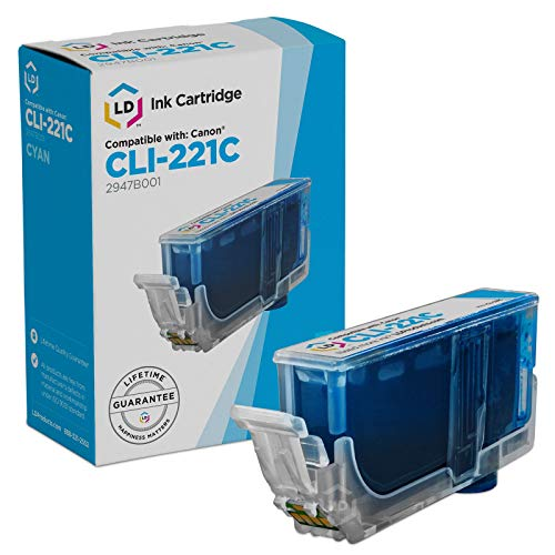 Compatible Replacement for Canon CLI221  Cyan Inkjet Cartrid