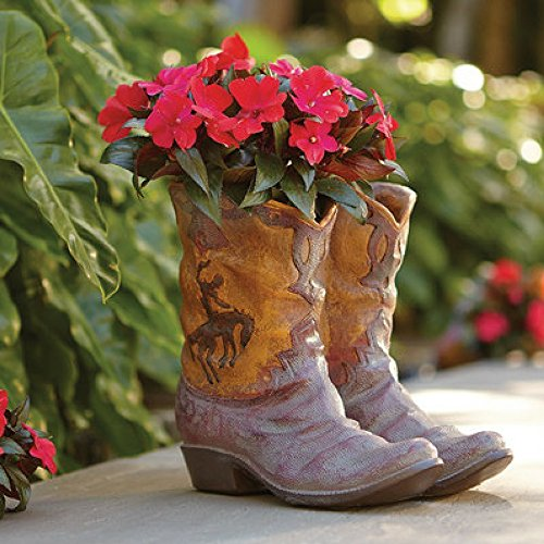 Bancroft Boots Planter, Brown/Gold ()
