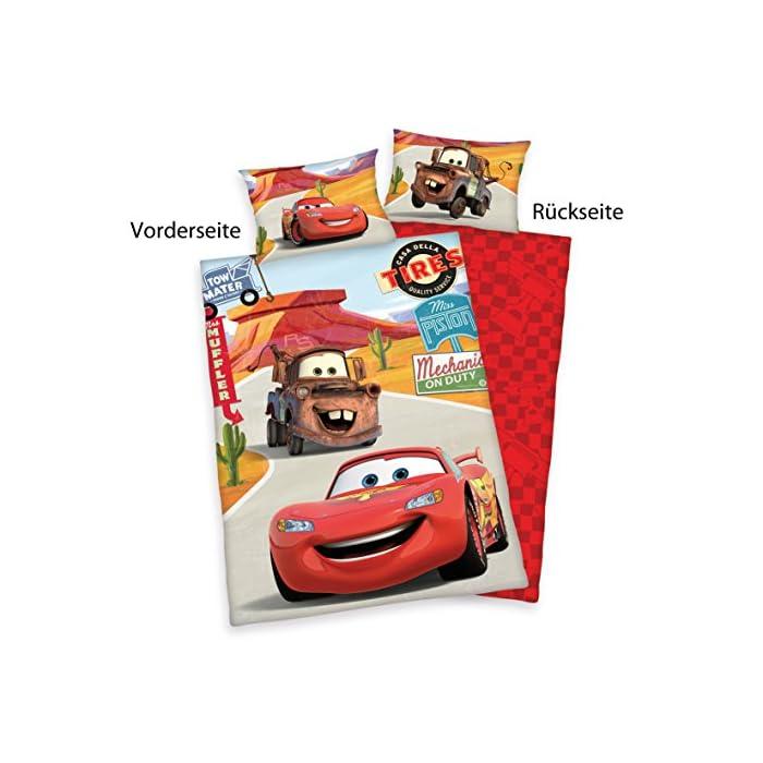 514Hbi3opVL Los niños Licencia Tema: Disney Cars Volviendo almohada y funda de edredón con motivo de doble cara Material: 100% algodón, RENFORCE