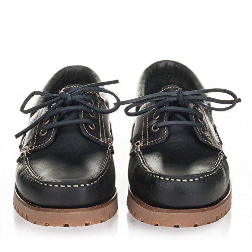 Castellanísimos C01104 Zapatos Náuticos Hombre Piel Con Cordones Color Marino MARINO