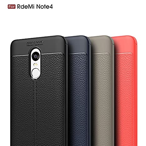 Upper Funda Cuero para Móvil Xiaomi Note 4 Carcasa Case Full Body Protection Case for Xiaomi Redmi Note 4 (Azul Oscuro)