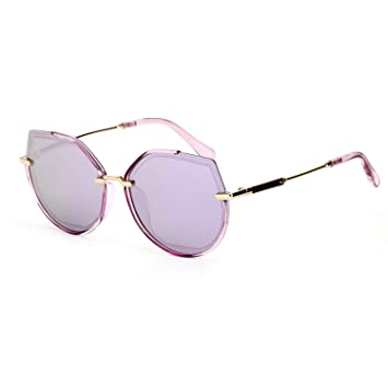 CJJC Gafas de Sol polarizadas de la Manera de Las Mujeres Simples UV400 Gafas de Las