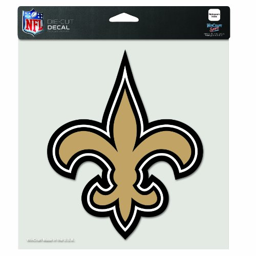 NFL New Orleans Saints 8-by-8 Inch Diecut Colored Decal