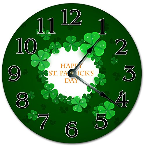 St Patrick's Day Wall clocks - 4 leaf clover wall clocks