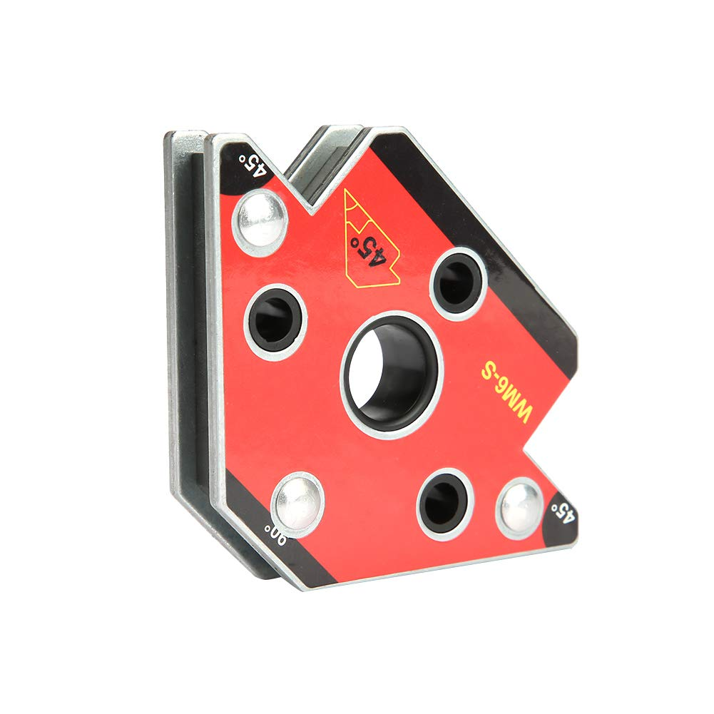 2 Pieces of Magnetic Welding Support 45 /° // 90 /° // 135 /° Maximum Extraction Force 30 kg Magnetic Welding Square Ideal to Be Used As Support and Welding Positioner