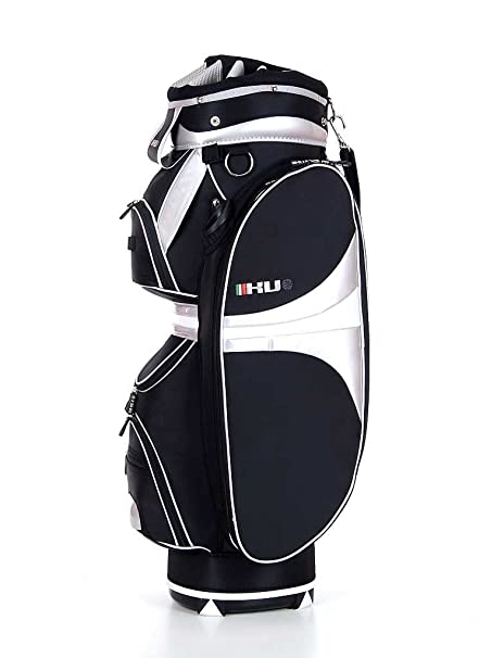 KV Kate - Bolsa de carro para palos de golf, color negro/blanco
