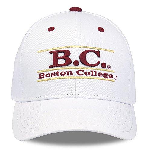 (NCAA Boston College Eagles Unisex NCAA The Game bar Design Hat, White, Adjustable)