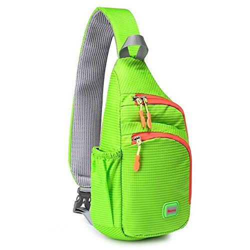 CATOP Sling Shoulder Crossbody Bag Water Resistant Compact Lightweight Cross Body Bag Daypack for Hiking School Men Women Forgiven Green
