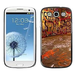 Be Good Phone Accessory // Dura Cáscara cubierta Protectora Caso Carcasa Funda de Protección para Samsung Galaxy S3 I9300 // Grafiti Street Art Wall Neon Drawing Letters