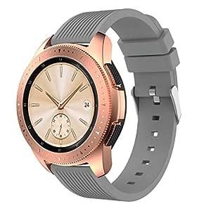 XIHAMA Correa Compatible con Samsung Galaxy Watch 42mm, Recambio de Silicona Bracelet Compatible con Smartwatch Samsung Galaxy Watch 42mm (42mm, Gris)