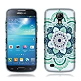 Nextkin Samsung Galaxy S4 mini I9190 Flexible Slim Silicone TPU Skin Gel Soft Protector Cover Case - Blue Flower Mandala