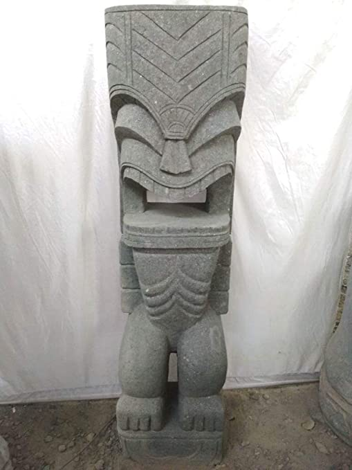 Wanda collection Tiki de Oceanía Estatua de jardín de Piedra volcánica 1,50 m: Amazon.es: Jardín