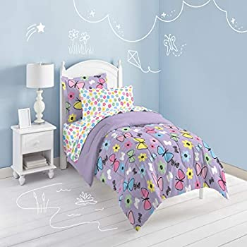 Amazon.com: DP 7pc Girls Lavender Whimsical Butterfly ... - photo#41