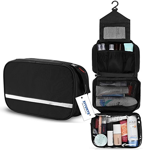 Hanging Toiletry Bag Waterproof - Small Travel Foldable Wash Bag for Men,...