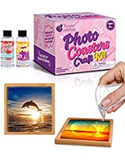 PURPLE LADYBUG Photo Coaster Resin Craft Kit for Kids Ages 14+ - Create Your Own Unique Coasters - Fun Activity, Cool Birthday Gift Idea for Teen Girls, Teachers & More - with Safety Equipment & Molds