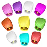 TRSCIND Sky Lanterns 10PCS Color Wish Lanterns Chinese Kongming Lanterns for Wedding Birthday Party Christmas