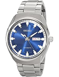 Seiko Mens SNKN41 Analog Display Automatic Self Wind Silver Watch