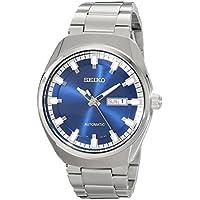 Seiko Men's SNKN41 Analog Display Automatic Self Wind Silver Watch