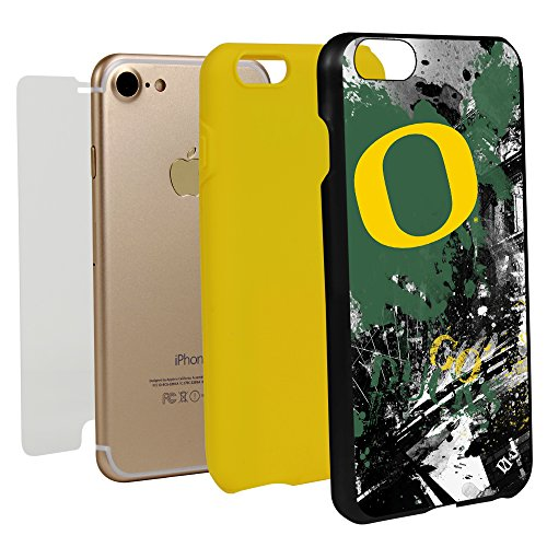 Guard Dog Oregon Ducks Paulson Designs Spirit Case for iPhone 7/8 with Guard Glass Screen Protector