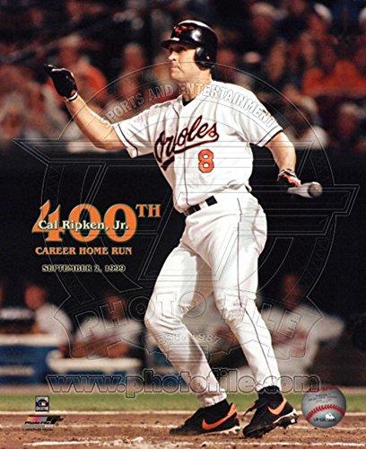 (Cal Ripken, Jr. - 400th Career Home Run Photo 8 x 10in )