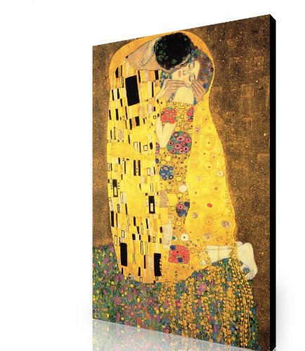 Large Canvas Gustav Klimt Kiss A1 30x20 Inch Stretched Over A