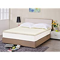 Superior 2 Ventilated Memory Foam Mattress Topper, High Density Premium Visco Elastic Memory Foam for Neck & Back Support - Queen Bed