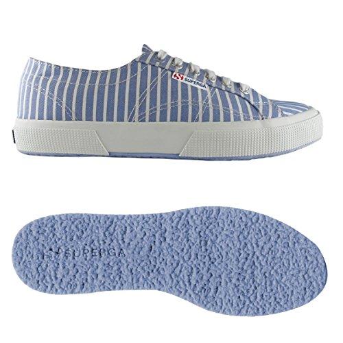 Superga - Scarpe 2750-FABRICSHIRTU per uomo e donna - A18 - Stripes Lt Blu-White - 42: EU 42 UK 8 (27,3 cm)