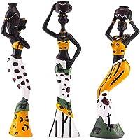 Aideal - Juego de 3 Figuras africanas