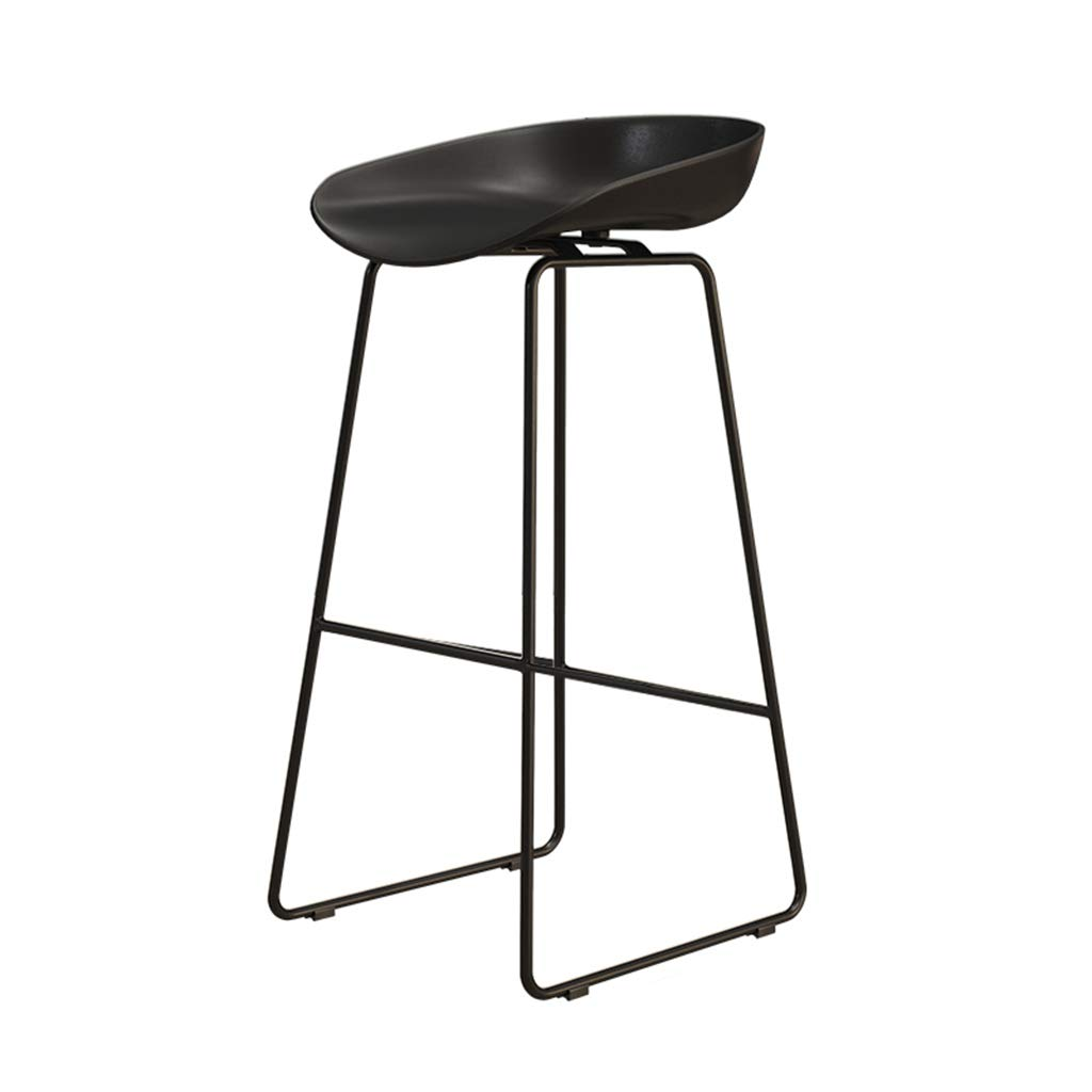 Black 75cm DingHome-ca Barstools - Wrought Iron Simple Fashion Breakfast High Chair Creative Bar Stool gold Kitchen Bar Counter