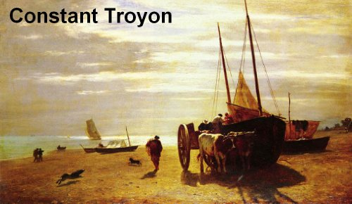 1810 Oil - 33 Color Paintings of Constant Troyon - French Landscape & Animal Painter (August 28, 1810 - February 21, 1865)