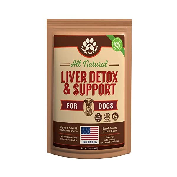 Liver Support for Dogs, Milk Thistle for Dogs and Cats, Supplement Without Capsules, Pills 1