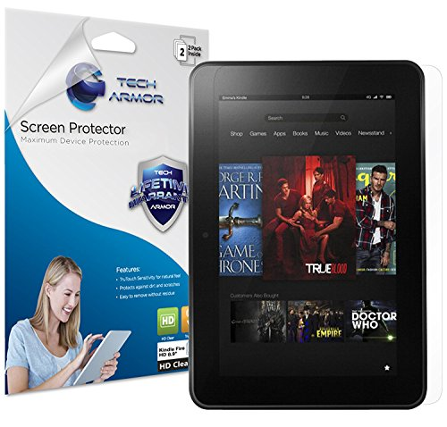 Tech Armor High Definition HD-Clear Film Screen Protector for Amazon Kindle Fire HD 8.9 (2012) [2-Pack]