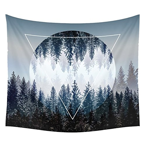 Tapestry Wall Tapestry Wall Hanging Tapestries Sunset Forest Tapestry Ocean and Mountains Wall Hanging Tapestry with Romantic Pictures Art Nature Home Decorations Dorm Decor Tapestries 59 x 51 Inches by BLEUM CADE (Image #7)