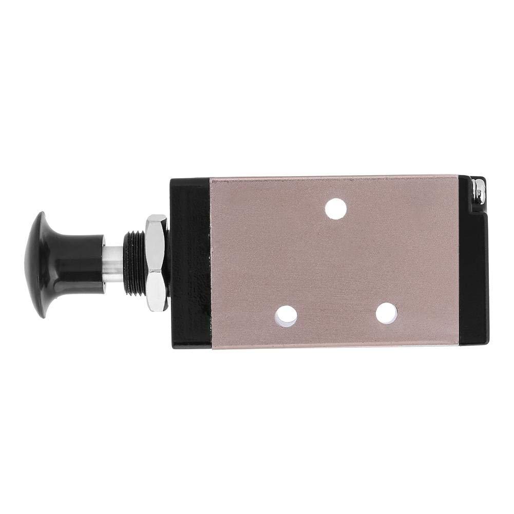 3-Wege-Druckluftventil 4R210-08 Hand-Push-Pull-Steuerung 1//4 BSPT-Pneumatikventil 2-Positionen