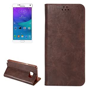 Crazy Horse Texture Magnetic Buckle Leather Case Cover Funda con Bolsillos Interiores & Holder Para Samsung Galaxy Note, Small 5 Quantity Recommended Before Samsung Galaxy Note 5 Launching (Coffee)