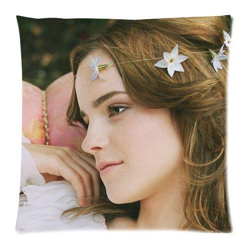 HipsterOne Emma Watson Throw Pillow Case Cover Custom Zip Pillowcase Cushion (Standard 18x18 inch)