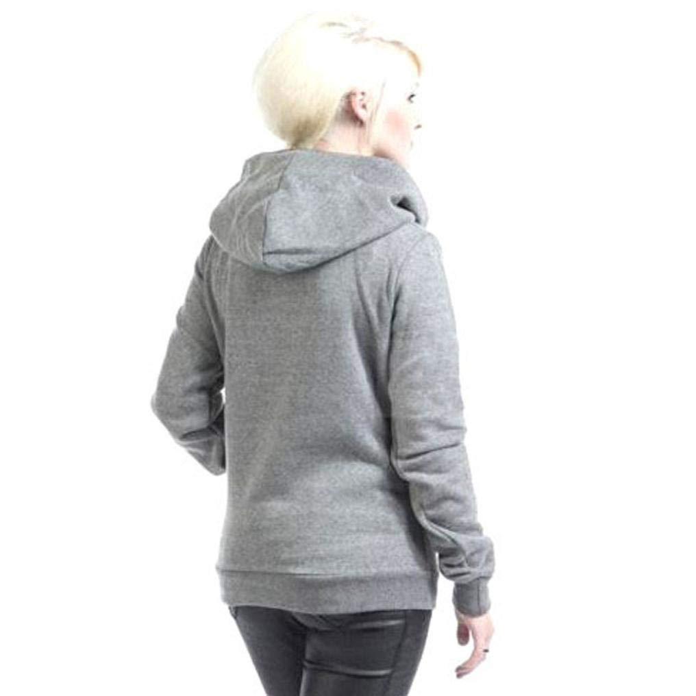Amazon.com: Big Women Hoodie Sweatshirt Cotton Long Sleeve Turtleneck Pocket Autumn Winter Jumper Blouse Fashion Tops: Clothing