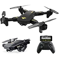 Quadcopter Drone with Camera Live Video, ARRIS Foldable Drone 2.4G Wife FPV Pocket Quadcopter RTF With 720P 2MP HD Camera - Altitude Hold / Headless / One Key Take Off / Landing /APP Control / 3D Flip